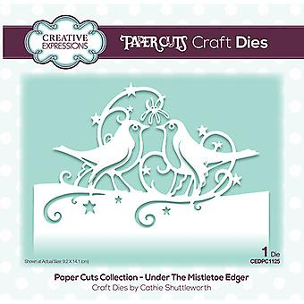 Creative Expressions Paper Cuts Collection - Christmas Cutting Dies - Under the Mistletoe Edger