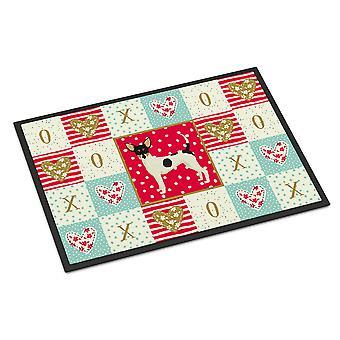 Caroline's Treasures Toy Fox Terrier Love Indoor or Outdoor Mat 18x27 zerbini, Multicolor