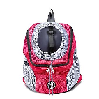 Out Double Shoulder Portable Travel Backpack Outdoor Pet Dog Carrier Bag