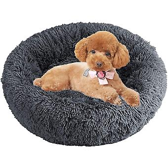 LONTG Calming Cat Bed Dog Bed Donut Pet Bed Fluffy Plush Pet Bed Cushion Cuddle Cozy Pet Nest Pet