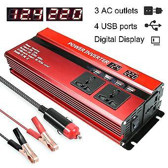 Convertor auto dc 12v invertor cu ecran LCD digital
