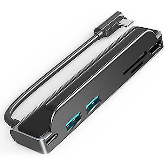 6-в-1 Тип-C Расширение концентратор ноутбук периферийная док-станция Адаптер