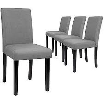 Black Vinyl Wood Color Metal Frame Upholstered Dining Chair