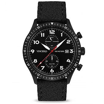 Vincero Bla-blac-a04 The Altitude Blue & Black Fabric Men's Watch