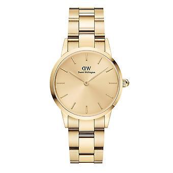 Daniel Wellington DW00100403 icónico unitone oro tono pulsera reloj de pulsera