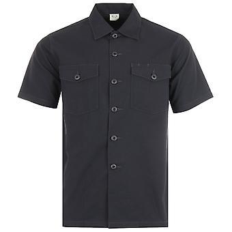 Maharishi Modified Utility Organic Cotton Short Sleeve Shirt - Black