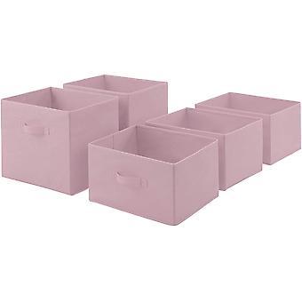 Wokex Basics - Wokexschubladen aus Stoff fr ein Aufbewahrungsschrank mit 3 Schubladen - Blassrosa
