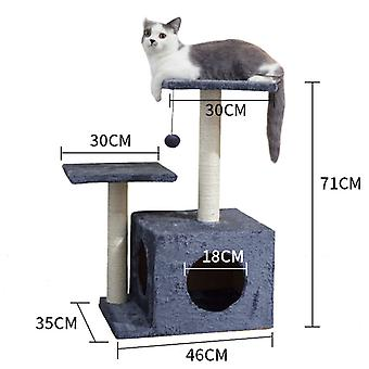 Cat Play Tower Cat Furniture For Scratching Pet Tree Animal Products Cat Toy