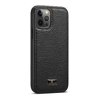 For iPhone 12 Pro Max Case Slim Fit Calf Grain Pattern Light Protective Cover