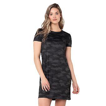 Womens Printed Jersey Camo Short Sleeve Dress