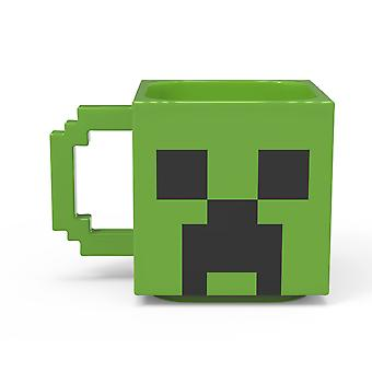 Minecraft Creeper Sculpted Ceramic Mug
