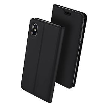 Dla iphonexs max przypadku odporne anty spadek klapka klapka okładka czarny