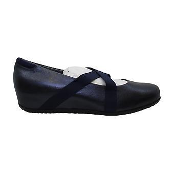 Softwalk Women's Waverly Mary Jane Flat,dark blue/black,11 W US
