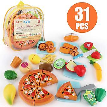 FengChun 31 Stck Lebensmittel Spielzeug Schneiden Obst Gemse Kinderkche Spielzeug Rollenspiele
