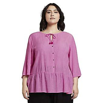TOM TAILOR MY TRUE ME Sommer Quaste T-Shirt, 23471-Dusty Orchid, 52 Woman