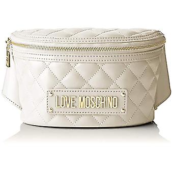 Love Moschino Bag Quilted Nappa Pu, Shoulder Strap Woman, Ivory,, 7x13x22 cm (W x H x L)