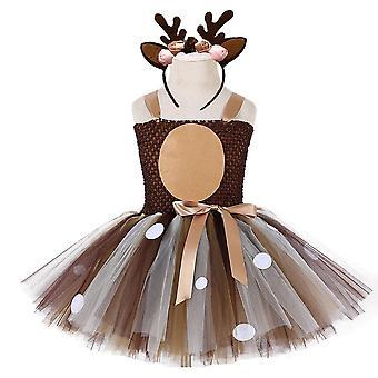 Christmas Deer Baby Girls 1St Birthday Party Dresses