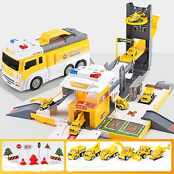 Rail Car Transformable Container Truck Parking Lot Toy Car Boy Fire Truck Car Police Car Children's Educational Toy Baby Gift
