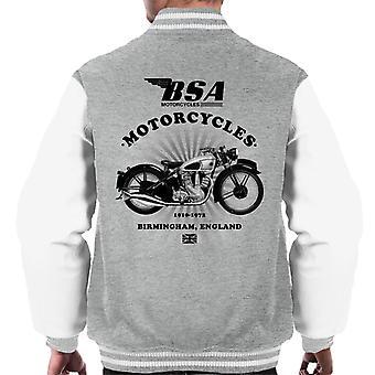 BSA Motorräder 1910 Birmingham England Herren Varsity Jacke