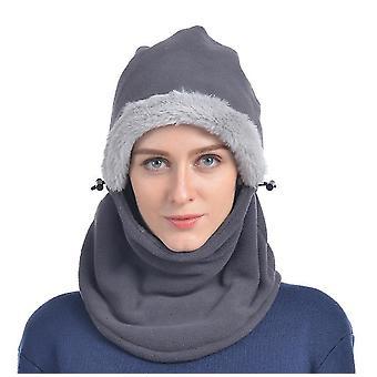 Šedá zima pletené balaclava beanie klobúk teplé cyklistické lyžiarska maska univerzálna veľkosť x2797