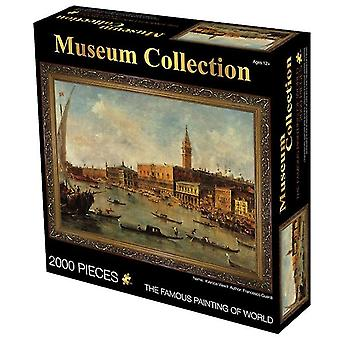 Port 2000 pieces of oil painting adult puzzle educational toys,creative decompression birthday gift az4039