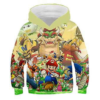 Impression 3D, Super Mario Cartoon Sweatshirt à capuche pour Set-17