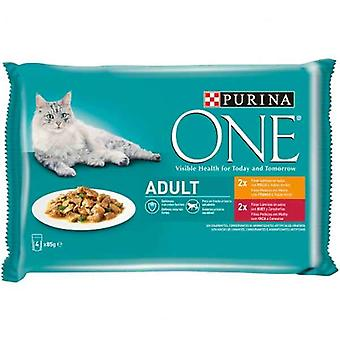 Cat food Purina One Adult (4 x 85 g)