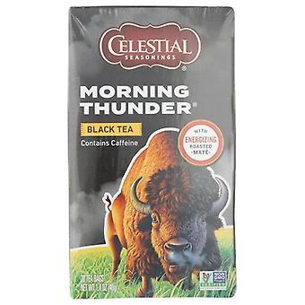 Celestial Seasonings Tea Blck Morning Thunder, Case of 6 X 20 Bags