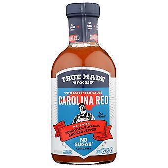 True Foods Bbq Sauce Red Carolina, Doos van 6 X 18 Oz