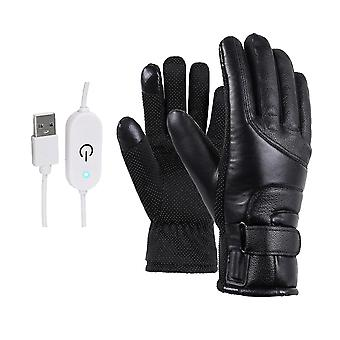 1 Pair Of Electric Heating Gloves For Motorcycle And Outdoor Sports Black