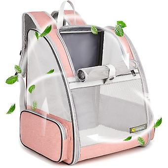 Pet Backpack Carrier For Small Cats Dogs, Ventilated Design, Safety Straps