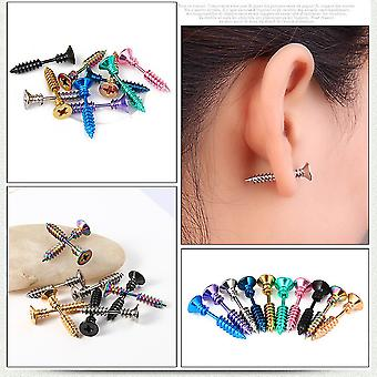 Ear Studs Screwpiercing Antiallergic Titanium Steel Earrings For Party