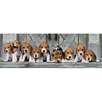 Clementoni Beagles Panorama högkvalitativt pussel (1000 stycken)