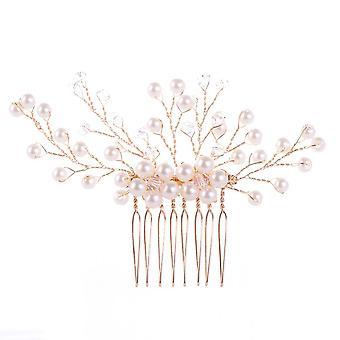 Coeur Bridal Hair Accessories Wedding Ornaments Women Comb Hair Simulated Pearl Crystal Trendy