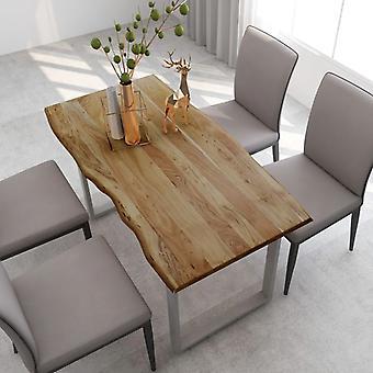 """שולחן אוכל vidaXL 140×70×76 ס""""מ עץ מלא שיטה"""