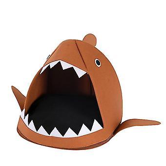 Cartoon Katzenstreu Shark Four Seasons Folding (Braun)