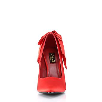 Pin Women's Shoes Up Red Satin
