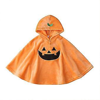 Unisex Baby Smiles Dýňové flanelové svrchní oděvy Plášť s kapucí 110cm