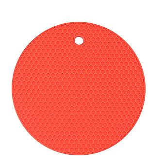 3Pcs 18cm Round Heat Resistant Silicone Mat Drink Cup Coasters Non-slip Pot Holder Table Placemat