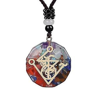 Pendant Symbol Necklace Chakra Healing Energy Meditation Jewelry(2862)