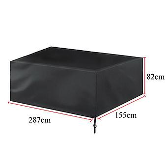 (9Ft: 287 * 155 * 82cm) 7/8/9ft Heavy Duty Waterproof Billiards Snooker Pool Table Cover Dust Protective