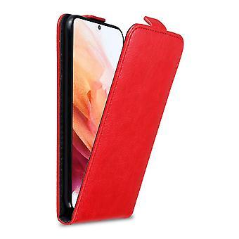 Hülle für Samsung Galaxy S21 5G Klappbare Handyhülle - Cover - aus Kunstleder mit Magnetverschluss