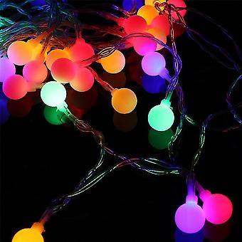 سلاسل مصباح الكرة الخفيفة غارلاند 40 أدى زينة عيد الميلاد متعددة الألوان