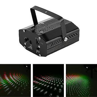 Mini Led R&g Laser Projector Stage Lighting Adjustment Dj Disco Party Club