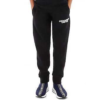 DSQUARED2 Pantaloni da jogging neri United per bambini