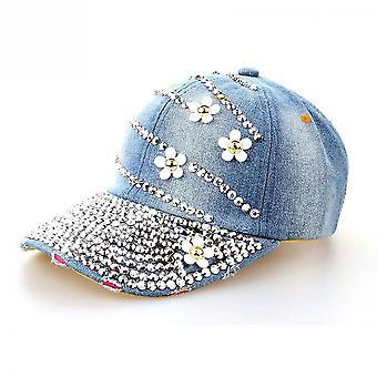 4 Kis virágok farmer baseball sapka bling strasszos snapback kalap gorra