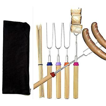 Extendable Rotating Marshmallow Roasting Sticks Set Campfire Roasting Sticks