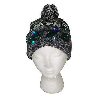 NFL New York Jets LED Lighted Stripe Beanie Gray Knit Chapeau d'hiver A371654