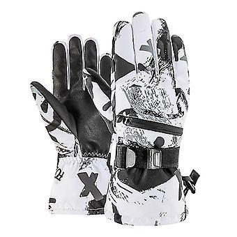 Men Women Winter Thermal Snowboard Waterproof Anti-slip Skiing Gloves