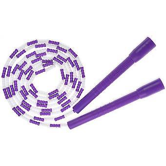Springseil - Weiche Perlen Segment Skipping Rope Adjustable Tangle-freies Fancy Rope für das Training (Lila)